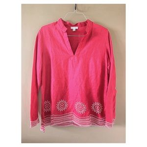 Charter Club great for summer 100% linen blouse